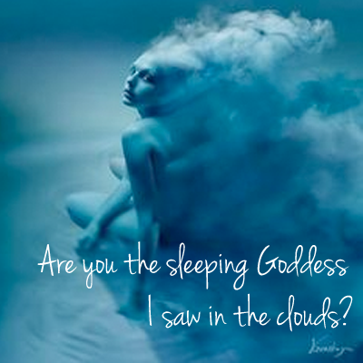 Sleeping Goddess in the Clouds