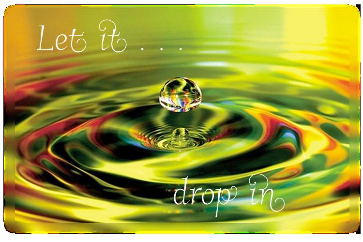 Let the wisdom drop in